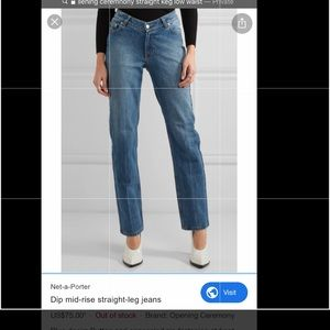 Opening ceremony straight jean size 27